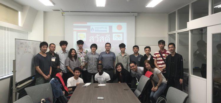 Sakura Science's laboratory tour